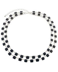 John Lewis | Blue Layer Square Necklace | Lyst