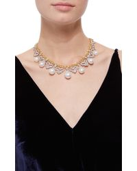 Buccellati | White Pearl And Diamond Necklace | Lyst