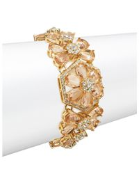 kate spade new york | Metallic At First Blush Floral Bracelet | Lyst
