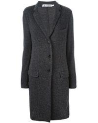 Barena - Gray Single Breasted Cardi-coat - Lyst
