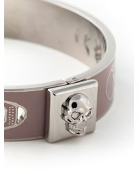 Alexander McQueen - Natural Enamel Skull Bracelet - Lyst