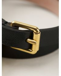 Alexander McQueen - Black Wraparound Bracelet for Men - Lyst
