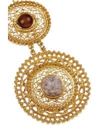 Ben-Amun - Metallic Gold-plated Cabochon Necklace - Lyst