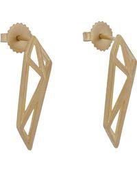 Monique Péan | Metallic Gold Geometric Drop Earrings | Lyst