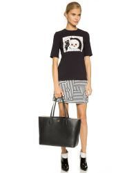 Tory Burch - Perry Tote - Black/beige - Lyst