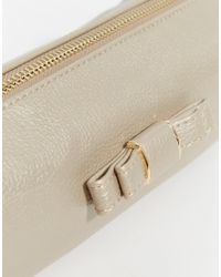 Oasis - Metallic Bow Detail Make Up Bag - Lyst