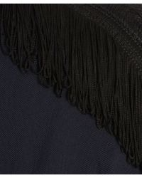 Libertine-Libertine - Blue Navy Long Sleeved Tassle Detail Top - Lyst