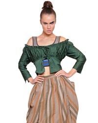 Vivienne Westwood | Green Ruched Techno Twill Top | Lyst