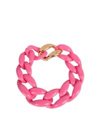 Moschino - Pink Necklace - Lyst