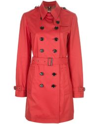 Burberry Brit | Red Crombrooks Trench Coat | Lyst