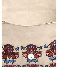 Isabel Marant - Multicolor Shiloh Embroidered Fringed Suede Clutch - Lyst