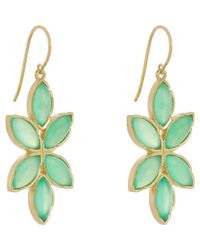 Irene Neuwirth - Green Women's Floral Drop Earrings - Lyst