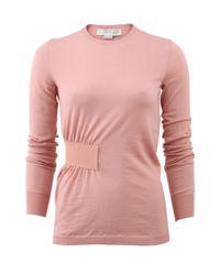 Stella McCartney | Pink Side Gathered Sweater | Lyst
