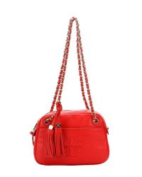 Tory Burch - Red Crossbody - Robinson Saffiano Wallet On A Chain - Lyst