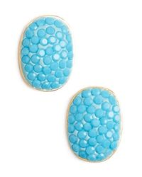 kate spade new york - Blue 'pave The Way' Stud Earrings - Turquoise - Lyst
