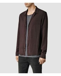 AllSaints | Purple Courthauld Shirt for Men | Lyst