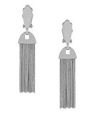 Vince Camuto | Metallic Silvertone Tassel Clip Earrings | Lyst