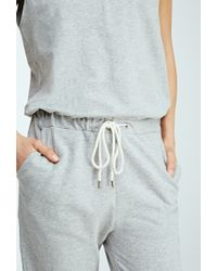 Forever 21 - Gray Heathered Knit Drawstring Jumpsuit - Lyst