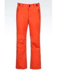 EA7 | Orange Technical Ski Trousers With Klinger And Thermore® Technology for Men | Lyst