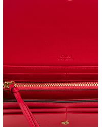 Chloé - Pink Bobbie Wallet - Lyst