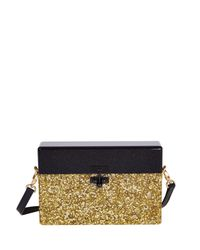 Edie Parker | Black Half-And-Half Small Trunk Bag | Lyst