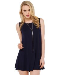 AKIRA - Blue Sweet Whispers Navy Dress - Lyst