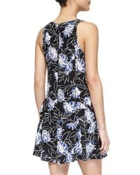 Thakoon Addition - Multicolor Floral-print Front-zip Dress - Lyst