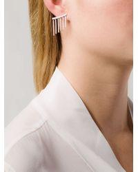 Ileana Makri | Metallic Dropped Bar Diamond Earring | Lyst