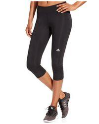Adidas | Black Response Climalite® Cropped Leggings | Lyst