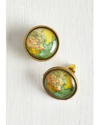 Muchtoomuch - Metallic Map Out Of It! Earrings - Lyst
