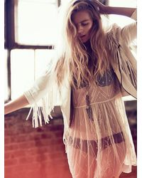 Free People | White Cleobella Womens Fringe Dreams Jacket | Lyst