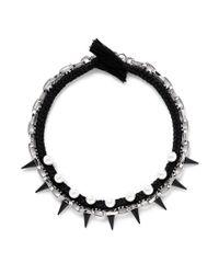 Joomi Lim - Black Spike Pearl Cotton Braid Necklace - Lyst