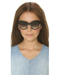 Marc By Marc Jacobs | Black Cat Eye Sunglasses - Pink Transparent/green Photo | Lyst