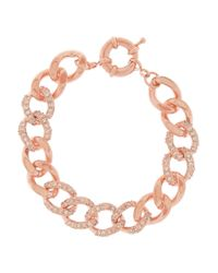 Kenneth Jay Lane | Pink Rose Gold-tone Crystal Bracelet | Lyst