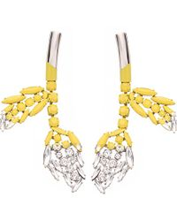 Marni | Yellow Silver-toned Brass And Resin Drop Earrings | Lyst