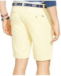 Polo Ralph Lauren | Yellow Classic-fit Flat-front Chino Shorts for Men | Lyst