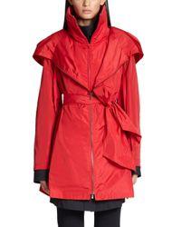 Donna Karan - Red Packable Anorak - Lyst