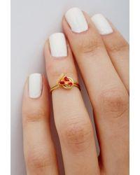 Forever 21 - Orange Jane'S Tiny Things Pepperoni Pizza Midi Ring - Lyst