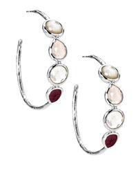 Ippolita | Red Wonderland Crystal Hoop Earrings | Lyst