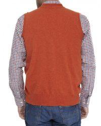 Jules B - Orange Mens Geelong Lambswool Waistcoat for Men - Lyst
