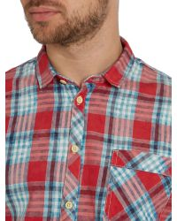 Blend | Red Check Classic Fit Long Sleeve Shirt for Men | Lyst