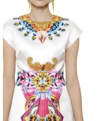 Manish Arora | White Printed Beaded Duchesse Dress | Lyst