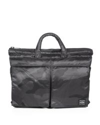 Porter | Black Small Camo Briefcase for Men | Lyst