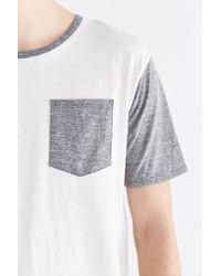 BDG | Natural Tri-blend Colorblocked Pocket Standard-fit Tee for Men | Lyst