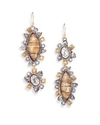 Alexis Bittar | Metallic Elements Desert Jasper & Crystal Reverse Mosaic Drop Earrings | Lyst