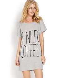 Forever 21 - Gray Morning Coffee Nightdress - Lyst