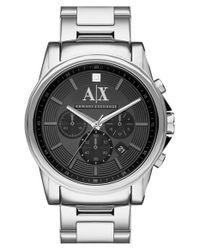 Armani Exchange - Metallic Diamond Marker Chronograph Bracelet Watch for Men - Lyst