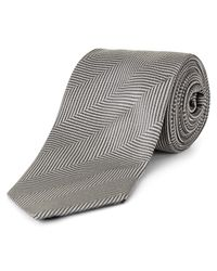 Jaeger | Gray Prince Of Wales Modern Tie for Men | Lyst