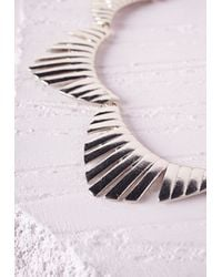 Missguided | Metallic Scallop Detail Bib Necklace | Lyst