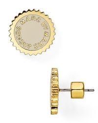 Marc By Marc Jacobs - Metallic Saw Tooth Enamel Disc Stud Earrings - Lyst